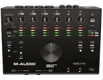 M-Audio AIR 192 8 4-In 4-Out 24/192kHz USB Audio MIDI Interface  • 174£