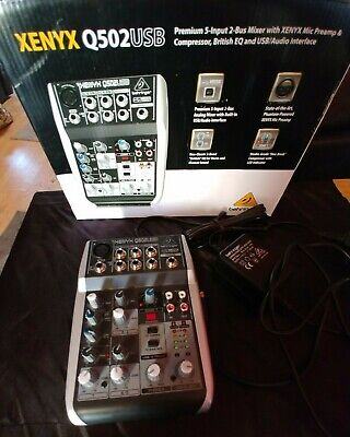 Behringer XENYX Q502USB USB Mixer / Audio Interface • 30£