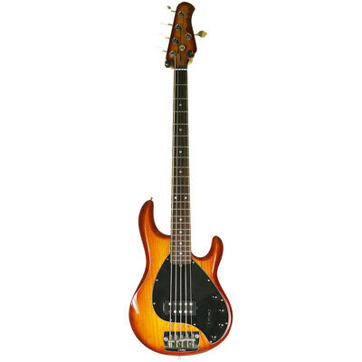 Sterling By Music Man Ray 35 5 String Bass Guitar, Honeyburst (Pre-Owned)