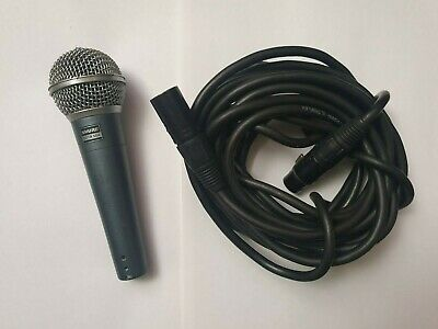 Shure BETA 58A (Vocal Microphone) With XLR MIC CABLE LEAD CORD 6m • 109£