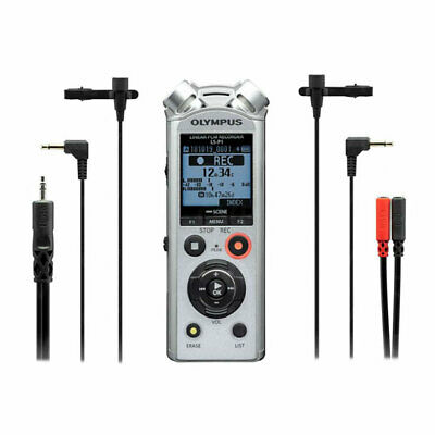 Olympus LS-P1 Interviewer Kit Incl. 2x Lavalier Mic And Stereo Breakout Cable    • 139.02£