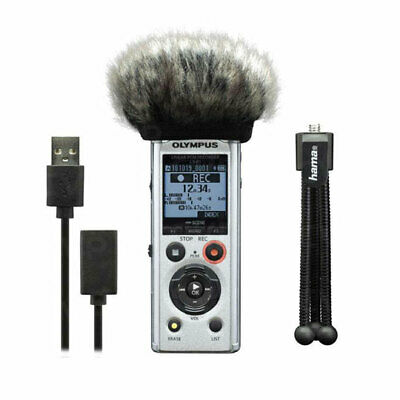 Olympus LS-P1 Podcaster Kit Incl. Mini Tripod, Windscreen And USB Cable, 39 Hour • 139.02£