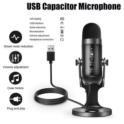 USB Condenser Microphone Noise Reduction Clear Sound Microphone Music Recording* • 26.29£