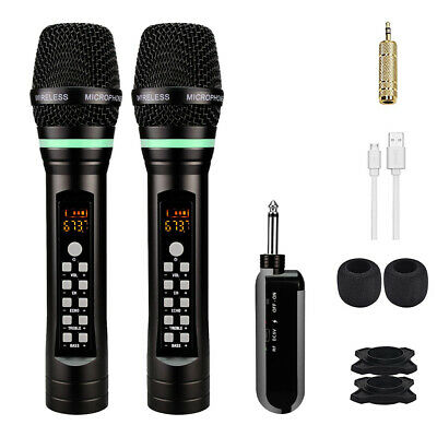2pcs UHF Portable Reachargeable Microphone With Receiver Wireless Microphone GOO • 43.99£