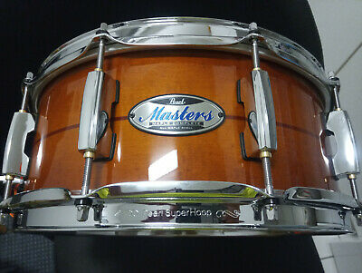 Pearl Masters Complete Mct Mmx Maple Snare New Model Open Box Mahogany Finish