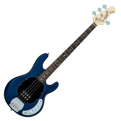 Sterling by Music Man Sub Ray4 Electric Bass Guitar, Trans Blue Satin