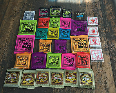 Ernie Ball Slinky Earthwood Electric Acoustic Classical Bass Guitar Strings WOW • 7.99£