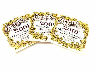 La Bella Guitar Strings 3 SETS  Light Tension  Silver Plated Wound  Classical  2