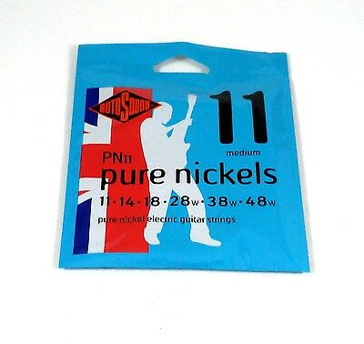RotoSound Pure Nickel Electric Guitar Strings PN-11 Regular 11-48 • 10.13£