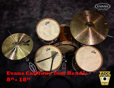 """18/"""" Evans Genera Calftone Tom//Snare Heads 8/"""" Free Express Delivery"""