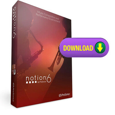 Presonus Notion 6 Notation And Composition Software With Audio Mixer MAC/PC • 123.02£