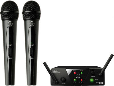 AKG WMS40 Mini Dual Mini2 Vocal Set Wireless Microphone System New • 141.25£