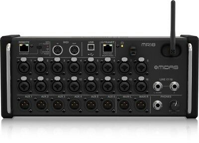 Midas MR18 18 Input Digital Mixer For IPad/Android Tablets - Ships FREE U.S. • 691.60£