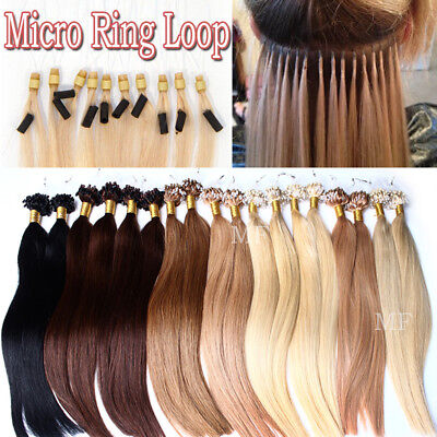 THICK 200S Micro Loop Ring Beads Russian Human Remy Hair Extensions Blonde DIY M • 73.01£