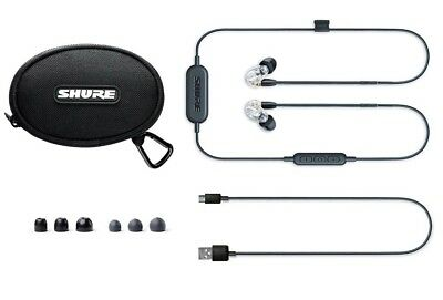 SHURE SE215-CL-BT1-EFS Wireless Bluetooth Sound Isolating Earphones W/mic, Clear • 124.95£
