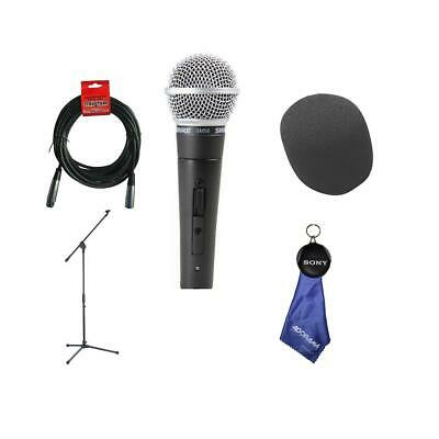 Shure SM58S Cardioid Dynamic Handheld Wired Microphone With Accessory Bundle • 100.32£