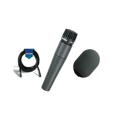 Shure SM57LC Cardioid, Dynamic Handheld Microphone W/Shure Windscreen /Cable • 106.02£