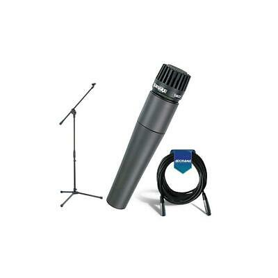 Shure SM57LC Cardioid, Dynamic Handheld Microphone W/Samson MK10 Mic Stand/Cable • 97.13£