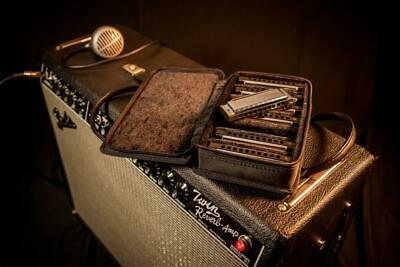 Fender Blues Deluxe Harmonicas with Case, 7 Pack