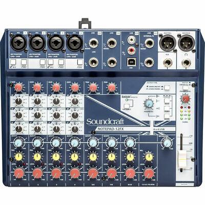 Soundcraft Notepad-12FX Small-format Analog Mixing Console With USB I/O New • 137.12£