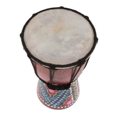 Portable Djembe Percussion Hand Drum African Drum Toy For Kid Baby 4.33 Inch • 8.44£