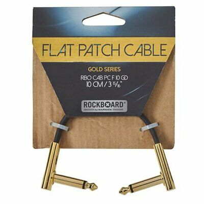 RockBoard Flat Patch Cable 10cm Ang-ang, Gold Series, RBO CAB PC F 10 GD  • 8.50£