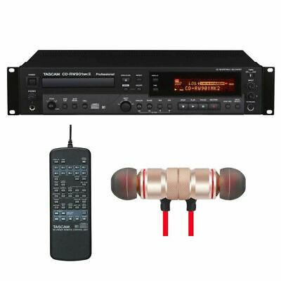 Tascam CD-RW901MKII CD Recorder W/Wireless Earbuds Stereo Bluetooth In-ear New • 461.28£