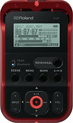 Roland Hi-Res Audio Recorder R-07-RD Red Linear PCM Recorder F/S W/Tracking# NEW • 219.90£