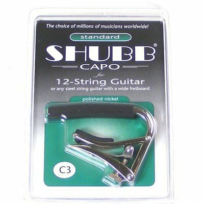 Shubb C3 Nickel Plated Capo For 12-string, NEW ROLLER DESIGN • 19.50£
