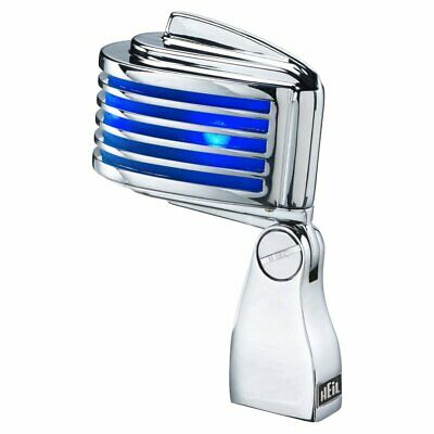 Heil Sound 'The Fin' Dynamic Mic/Microphone Chrome With Blue LEDs, FINCRBL  D • 239£