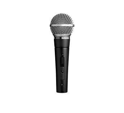 Shure Unidirectional Vocal Microphone, With On/Off Switch, Wired, Black.. • 75.25£