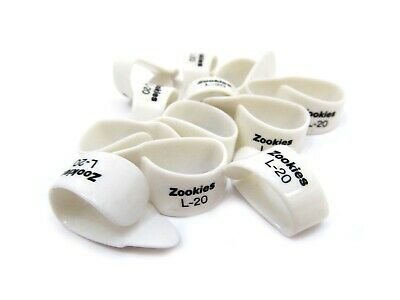 Dunlop Thumb Picks Zookies 12 Pack 20 Degrees Large • 14.38£