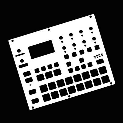 Blank White Overlay Card For The Elektron Digitakt (by Novalays) • 9.99£
