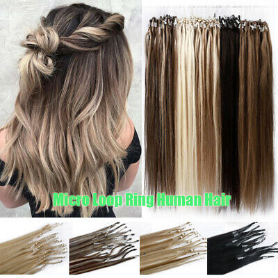200G Real Thick Micro Loop Ring Beads Human Remy Hair Extensions Nano Tips Ombre • 69.23£