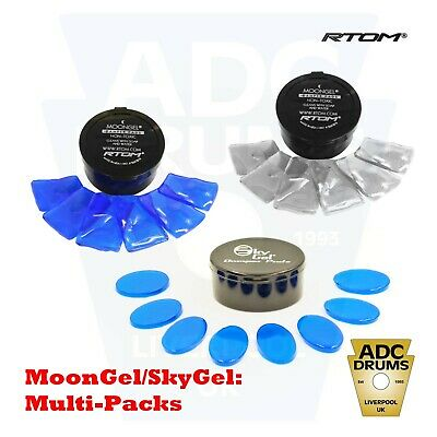 Drum Tone Control: RTOM MoonGel/SkyGel (Blue & Clear Moon Drums Damper Pads) • 6.68£