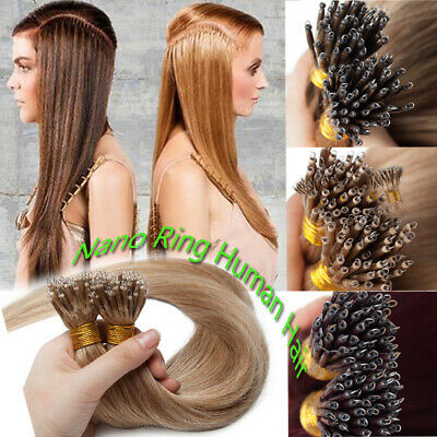 CLEARANCE 8A Russian/Indian Nano Ring Tip Human Remy Hair Extensions Micro Beads • 97.90£