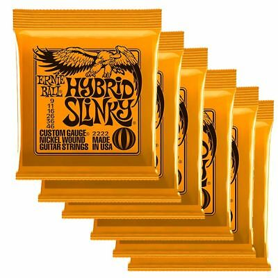 Ernie Ball 2222 Hyrbrid Slinky Strings 6 X SETS - 9/46 • 35.94£