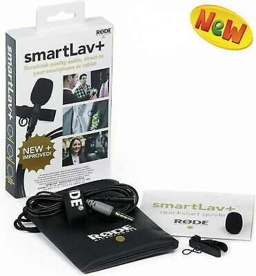 F/S Rode SmartLav+ Lavalier Lapel Mic Microphone For Apple And Smartphone • 46.19£