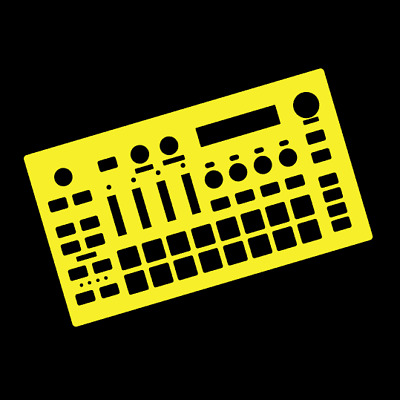 Yellow Overlay Card For The Roland MC101 Groovebox (by Novalays) • 7.49£