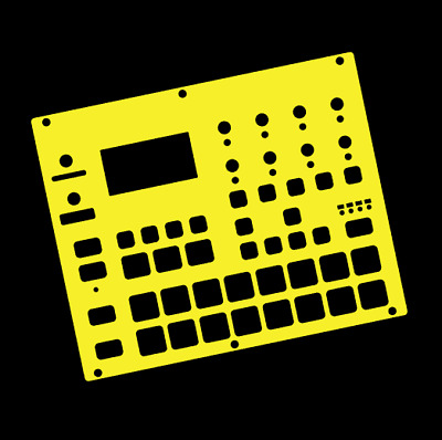 Yellow Overlay Card For The Elektron Digitakt (by Novalays) • 8.99£