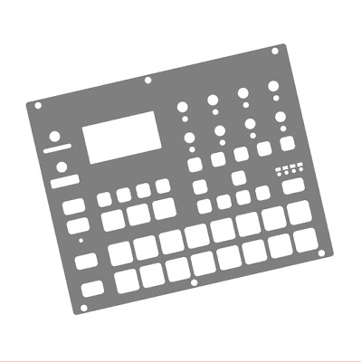 Grey Overlay Card For The Elektron Digitakt (by Novalays) • 8.99£