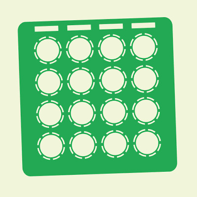 Green Overlay Card For DJ Techtools MIDI Fighter 3D (by Novalays) • 6.49£