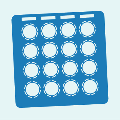 Blue Overlay Card For DJ Techtools MIDI Fighter 3D (by Novalays) • 6.49£