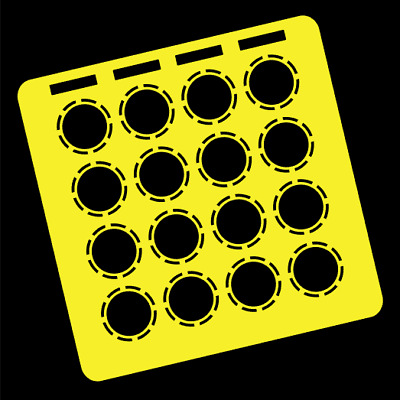 Yellow Overlay Card For DJ Techtools MIDI Fighter 3D (by Novalays) • 6.49£