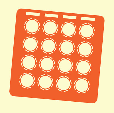 Orange Overlay Card For DJ Techtools MIDI Fighter 3D (by Novalays) • 6.49£