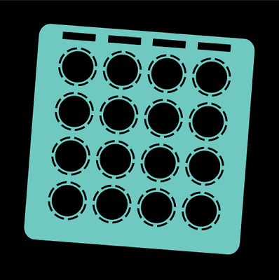 Cyan Overlay Card For DJ Techtools MIDI Fighter 3D (by Novalays) • 6.49£