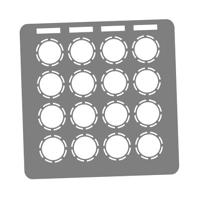 Grey Overlay Card For DJ Techtools MIDI Fighter 3D (by Novalays) • 6.49£