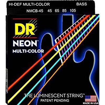 DR NMCB-45 Neon Hi-Def Multi-Color 4-String Bass Strings 45-105 • 38.50£