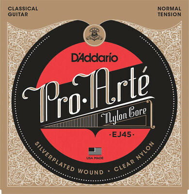 D'Addario EJ45 'Pro Arte' Silver/Clear Classical Strings, Normal Tension • 12.50£