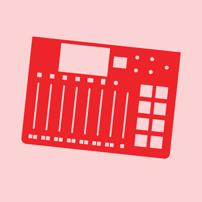 Blank Red Overlay Card For The Rode Rodecaster Pro (byNovalays) • 11.99£